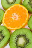 Orange och kiwi Royaltyfri Bild
