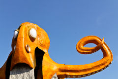 Orange octopus ride Royalty Free Stock Photo