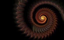 Orange octopus tentacle. Orangfractal abstract orange octopus tentacles on a black backgrounde octopus tentacle royalty free illustration