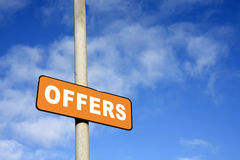 Orange offers sign Royalty Free Stock Images