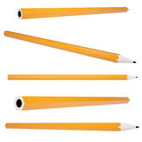 Orange office pencil Stock Photo