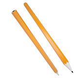Orange office pencil. Isolated render on a white background Stock Image
