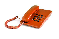 Orange office phone Royalty Free Stock Photo