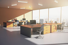 Orange office side Royalty Free Stock Image