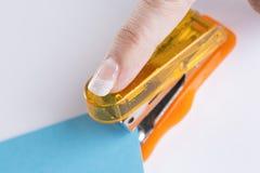 Orange Office Stapeler Stock Images
