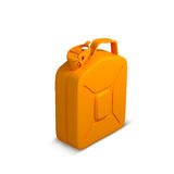 Orange Oil canister recycle concept. Isolation on white Stock Photo