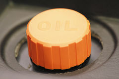 Orange Oil Lid Stock Photo