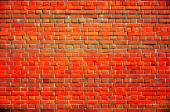 Orange old brick block wall Stock Image