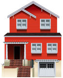 An orange old building Royalty Free Stock Photography