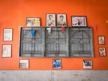 Orange Old Home Vintage wall Top with King and Queen of Thailand. The Orange Old Home Vintage wall Top with King and Queen of Thailand Photos Frame , The Rest is Royalty Free Stock Photography