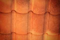 Orange old roof metal  texture Royalty Free Stock Photography