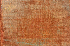 Orange old rusted corroded metal or steel sheet Stock Photography