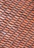 Orange old tile rooftop pattern Royalty Free Stock Photos