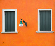 Orange old wall Royalty Free Stock Images