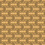 Orange On Brown Ant Geometric Pattern Seamless Repeat Background Stock Images