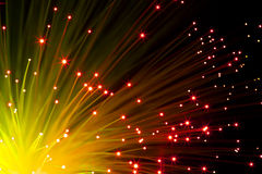 Orange optic fibers Stock Photography