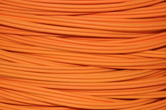 Orange optical cable Royalty Free Stock Photo
