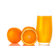 Orange with orange juice Royalty Free Stock Photography