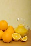 Orange and orange juice Stock Photo
