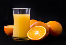 Orange and orange juice Royalty Free Stock Photos