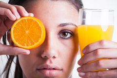 Orange or orange juice Royalty Free Stock Photos