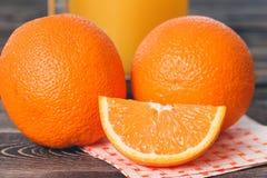 Orange, Orange Lobule. Healthy Lifestyle Concept. Orange, Orange Lobule on the Wooden Table. Healthy Lifestyle Concept Stock Photo