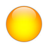 Orange Orb [01]. A Crystal Orange Orb, Isolated Royalty Free Stock Image