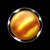 Orange orb with reflex Stock Image
