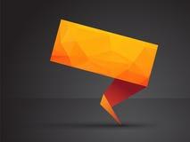 Orange origami tag Stock Photography