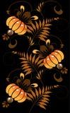 Orange ornament on a black background Stock Images