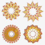 Orange ornament - seamless pattern dudling Royalty Free Stock Photography