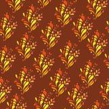 Orange ornament - seamless pattern dudling Royalty Free Stock Image