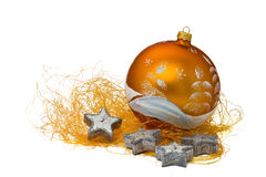 Free Orange Ornament With 4 Candles Stock Photos - 2990913