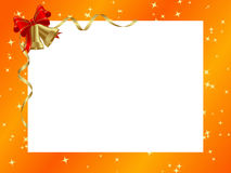 Orange ornamental christmas frame. Stock Image