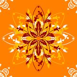 Orange ornamental design. An ornamental design on an orange background vector illustration