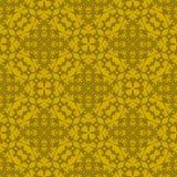 Orange Ornamental Seamless Line Pattern Stock Images