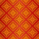 Orange ornate wallpaper Stock Image