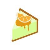 Orange ostkaka Arkivfoton