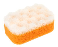 Orange oval bath sponge Royalty Free Stock Photos