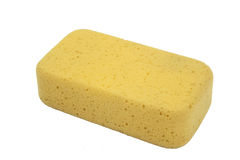 Orange oval bath sponge Stock Images
