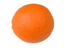 Orange over white Royalty Free Stock Images