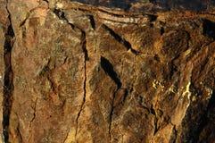 Orange Oxydation Texture Stock Images