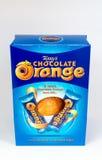 Orange påskägg för choklad Royaltyfria Bilder