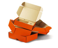 Orange Package Boxes Royalty Free Stock Images