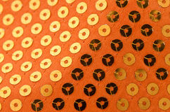 Orange paillette background Royalty Free Stock Image