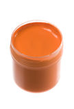 Orange paint Royalty Free Stock Images