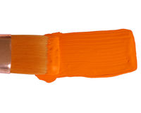 Orange paint 51 Royalty Free Stock Images