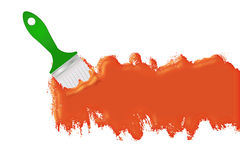 Orange paint line Royalty Free Stock Photo