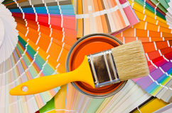 Orange paint sample. Stock Images