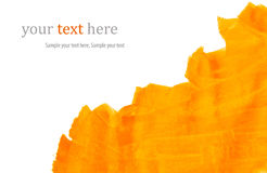 Orange paint strokes Royalty Free Stock Images